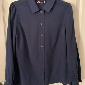 Tory Burch Navy Blouse